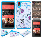 For HTC Desire 626 HARD Hybrid Rubber Silicone Case Phone Cover + Screen Guard