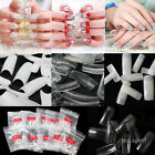 500pcs False Nail Art Tips French Acrylic Natural White Clear Fake Fingernails