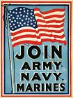 PROPAGANDA WAR WWI ARMY NAVY FLAG ENLIST USA LARGE POSTER ART PRINT BB3226A