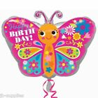 """18"""" HAPPY BIRTHDAY BUTTERFLY CUTE PINK HELIUM FOIL BALLOON 30788"""
