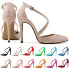Women's Ladies Stilettos High Heels Ankle Strap Sandals Summer Pumps