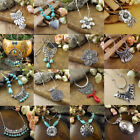 20 style Vintage Women's Tibetan Silver Turquoise Beads String Pendant Necklace