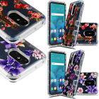 For Kyocera Hydro Wave C6740 Hybrid Silicone Rubber Skin Case Cover