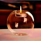 Hot Romantic Crystal Round Shape Glass Candle Holder Wedding Dinner Home Dector