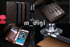 luxurious Genuine Wallet yak Leather Stand Case Cover for Various Samsung iphone