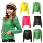 Winter Warm Women Solid Cultivate One's Morality Round Neck Short Jacket Coat