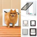 White Brown Frame 4 Way Locking Lockable Puppy Small Pet Cat Dog Flap Door S M L