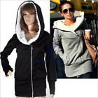 New!hot style women leisure hooded woollen sweater Winter thick coat