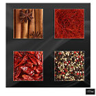 Food Kitchen Herbs Spices Indian   BOX FRAMED CANVAS ART Picture HDR 280gsm