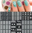 Useful Easy Reusable Stamping Tool DIY Nail Art Template Stickers Stamp Stencil