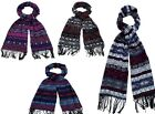 LADIES BLANKET SCARVES WITH AZTEC PRINT IN 4 COLOURS - 91235 CC