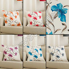 """LILY FLORAL CUSHION COVER CASE BLACK ORANGE RED CREAM TEAL 45 x 45cm 18"""" x 18"""""""