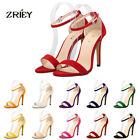 ZriEy(TM)Women's ladies High Heels Stilettos Ankle Strappy Cuff Open Toe Sandals