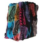 Ladies butterfly print scarf with tassels 90663