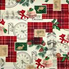 Wonderful Christmas fabric celebrating Britain100 % cotton per 1/2 mtr or per FQ