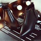British style Ladies ankle boots Leather rivet zip pointy toe flats Punk street