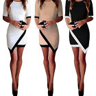 CHIC Women's Bodycon Clothing Asymmetric Evening Party Cocktail Sexy Mini Dress