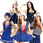 Sexy Sailor + Hat Ladies Fancy Dress Military Uniform Womens Adult Navy Costume