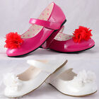 Mary Janes Shoes Size UK 9 -12 EU 26.5-30 Flower Girl Bridesmaid Party GS009