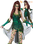 Ladies Sexy Lethal Beauty Ivy Costume + Wig  Superhero Halloween Fancy Dress