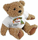 PERSONALISED SPECIAL OCCASION TEDDY BEAR - BOYS NAME HAPPY XMAS 2015 DESIGN