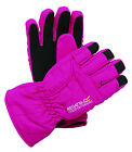 Regatta Pink KIDS WATERPROOF Gloves Fleece Lined Padded Girls Ages 4-13