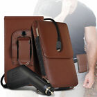 Premium PU Leather Belt Pouch Holster Case & Car Charger For Samsung Galaxy S4
