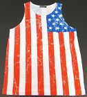 Old Glory Tank Top T-shirt KONFLIC USA Flag Stars Stripes Vest Adult Men New