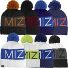 Mizuno 2015 Big Logo Wordmark Mens Golf Bobble Beanie Winter Knitted Hat