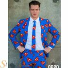 Mens Official Superman Logo Halloween Opposuit Suit Adult Fancy Dress Costume