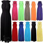 NEW LADIES LONG STRETCH WOMENS MAXI DRESS SIZE 8 - 14
