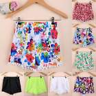 Sexy Women Printed Floral Tassel Summer Beachwear Short Pants Hot Pants Shorts
