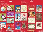 50 x Christmas Xmas Cute Or Traditional Card Gift Tags Labels Metallic Thread