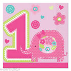 1st BIRTHDAY One Wild Girl SMALL NAPKINS (16) ~ Party Supplies Cake Beverage