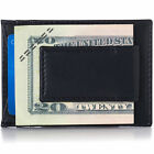 Alpine Swiss Mens Leather Wallet Money Clip Bifold Trifold Front Pocket Wallets <br/> Makes a Perfect Gift!