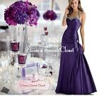 CHELSEA Cadbury Purple Taffeta Beaded Maxi Bridesmaid Ballgown Dress UK 6 -18
