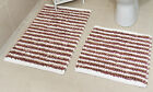 New Dusky Pink 100% Cotton Bathroom Mats Set - Washable Bath & Pedestal Mat Sets