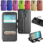 Ultra Slim Leather Wallet Flip Case Cover For LG G3S Mini D722 + Screen + Stylus