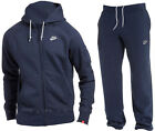 NEW NIKE FOUNDATION TRACKSUIT FLEECE HOODY AND JOGGERS BOTTOMS PANTS S M L XL