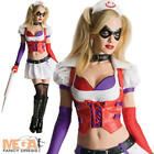 Harley Quinn Super Villian Ladies Fancy Dress Halloween Womens Adults Costume