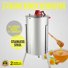 """3 THREE FRAME HONEY EXTRACTOR STAINLESS STEEL DRUM TANK 2"""" OUTLET DRAINING"""