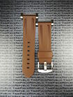 New Suunto Core PU Rubber Strap Soft Diver Watch Band Lugs Adapter Set Brown