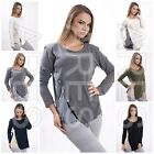 Ladies Jumper with Inserts Size 8/10/12 Women's Top  Sleeve Blouse