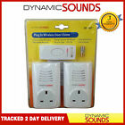 Twin Plug in Wireless Cordless Door Bell Chime Mains with Socket UP TO 80M range