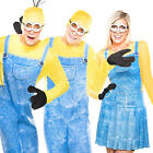 Minion Mens Womens Fancy Dress Despicable Me Cartoon Movie Adults Costumes New