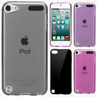 For iPod Touch 5th 6th Gen CANDY Gel Flexi Skin Case Phone Cover +Screen Guard