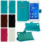 Magnetic Flip PU Leather Wallet Cases Covers For Sony Xperia Z5 Premium Compact