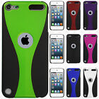 iPod Touch 5th 6th Gen Rubberized Slim HARD Protector Wave Cover +Screen Guard