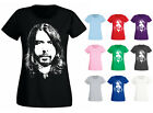 Womens Dave Grohl Face Close Up Foo Fighters T-shirt NEW UK 6-18