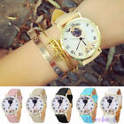 Pug Pet Love Dog Mens Womens Sport Faux Leather Black White Analog Wrist Watch